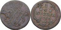 1/4 Stüber 1766 Erzbistum Köln Maximilian Friedrich von Königseck, Krone #CX72