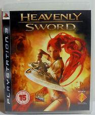SONY PS3 EUROPEAN REGION 2 HEAVENLY SWORD 100% COMPLETE VIDEO GAME