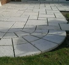 Wavy edged Riven Paving slabs - 9 sizes, various colours