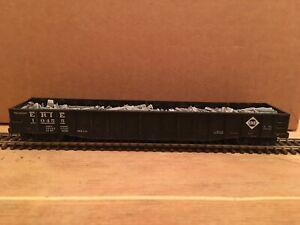 "HO Proto 2000 Erie Lackawanna 52' 6"" Drop End Mill Gondola EL #10455 With Load"