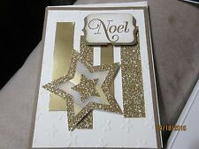 Handmade Christmas Card - Noel Gold Star - Using Stampin' Up products
