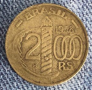 BRAZIL: 1938 2000 REIS VERY NICE COIN L11