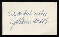 John Glenn Beall Jr. Signed 3x5 Index Card Autographed Signature Senator