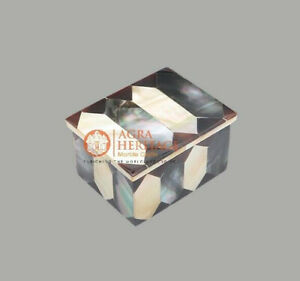 Handmade Jewelry Trinket Box For Girls Mop Inlaid Gemstone Gift Loves One Decor