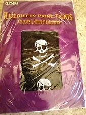 2007 Halloween Print Tights Black with White Skulls Paper Magic Group