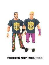 WWE Fandango Tyler Breezango 'Fashion Patrol' Custom Shirts For Mattel Figures.
