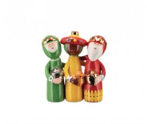 ALESSI Xmas Uno, Due, Tre Re Magi (Three Kings) Figurine AGJ01 4 FREE DELIVERY