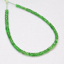 2.2mm-3.1mm Tsavorite Green Garnet Faceted Rondelle Beads 5 inch strand