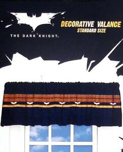 BATMAN ROUGH BAT DARK BLUE VALANCE WINDOW TREATMENT NEW