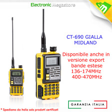 RICETRASMITTENTE Midland CT690 Walkie Talkie Dual Band VHF/UHF radio C1260 GIALL
