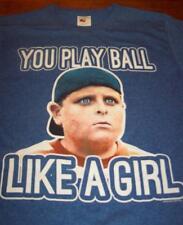 VINTAGE STYLE THE SANDLOT YOU PLAY BALL LIKE A GIRL T-Shirt Baseball MEDIUM NEW