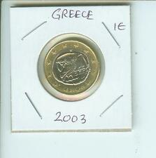 2003   1€  1 €  GREECE 1 Euro Bimetallic Coin OWL