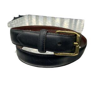 Coach Mens Belt Black Leather Brass Buckle Vintage 5950 Size 32