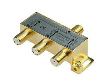 Monoprice Premium 3 Way Coax Cable Splitter F Type Screw - 5~2400 Mhz 10014 NEW