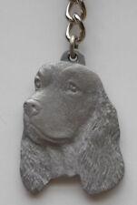 English Springer Spaniel Dog Pewter Key Chain, Rawcliffe Company
