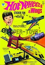 Vintage Reprint - 1972 - Hot Wheels Sticker Fun Book - Reproduction