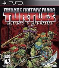 Teenage Mutant Ninja Turtles MUTANTS IN MANHATTAN PS3 NEW! ACTION, BOSS BATTLE *