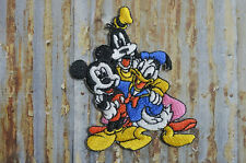 Mickey Goofy Donald Party Cartoon Kids Embroidered Iron On Or Sew On Patch