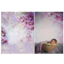 5x7ft Purple Flower Baby Kids Photography Background Studio Photo Backdrop Props