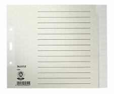 LEITZ Register A4 1231 1-31 Papier grau 1231-00-85 Papierregister 100g NEU