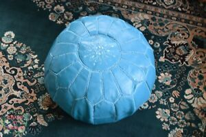 Moroccan Pouf Ottoman Footstool Premium Genuine Leather pouf for sitting leather