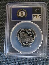 2001-S 25c Kentucky SILVER State Flag Label Quarter Proof Coin PCGS PR70DCAM