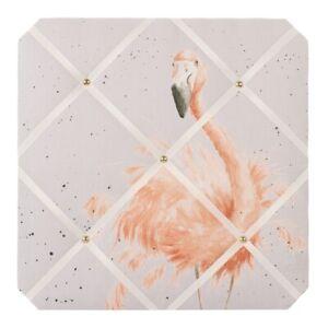Wrendale Designs Flamingo Fabric Notice Board - Pretty In Pink  40cm Pin Board