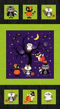 "Woodland Haunt Halloween Quilt Fabric Panel 24"" x 44"""