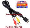 PS3 6FT RCA AV TV Audio Video Stereo Cable Cord For Sony Playstation PS1 PS2 PS3