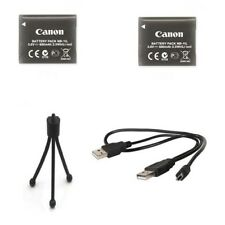 2X Canon NB-11L Batteries + USB Cable + Tripod for PowerShot ELPH 180, ELPH 190,