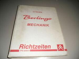 Manual de Taller Mecánica Tiempos de Fraguado Citroen Berlingo, Salida 06/2002