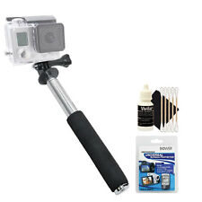 Selfie Stick Monopod Tripod with Screen Protector Kit and Cleaning Kit
