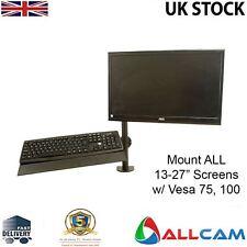 GSA12S Gas Spring Desk Mount LCD Monitor Single Arm w/ Keyboard Mount