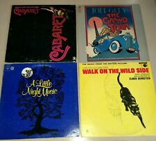 """New listing 4 Piece Vinyl 12"""" Record Lot Cabaret Walk On The Wild Side Grand Tour Music"""