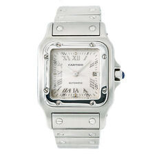 Cartier Santos Galbee 2319 Unisex Automatic Watch Stainless Steel Silver Dial