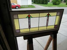 ~ ANTIQUE STAINED GLASS TRANSOM WINDOW  ~ 18 X 36 ~  ARCHITECTURAL SALVAGE ~