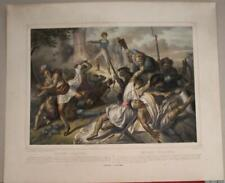 New ListingUnited States 1860 Turgis Antique Lithographic American Indian Wars Battle Scene