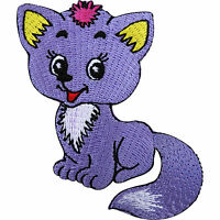 Fox Patch Iron On Badge / Sew On Cat Embroidered Animal Applique for Clothes Hat