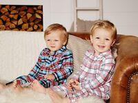 Baby Boy Flannel Sleep Suit Pyjamas Sizes: 2 - 24 months  100% cotton 3 Designs