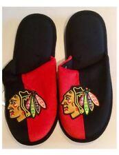 Chicago Blackhawks NHL Ice Hockey Dual Colour Logo Slippers : Medium