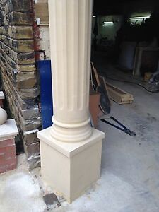 Cast Stone Fluted & Smooth Round Columns, Porches