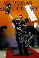 SALE PETER MANLEY DARTS HAND SIGNED PHOTO AUTHENTIC + COA - 12x8