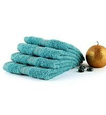 4 -Pack SPACES 100% Supima Cotton Face Washers|Towels in Lagoon Colour