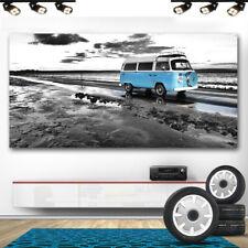 Bus Bulli Volkswagen Oldtimer Autos Abstraktes Bilder Leinwand Wandbild XXL 673A