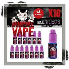 Vampire Vape E-liquid Juice, All Flavours/Nicotine Strength 10 x 10ml for £22.95