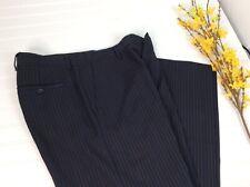 Banana Republic Wool Striped Dress Pants Trousers Mens 33 34 Slacks Flat Front