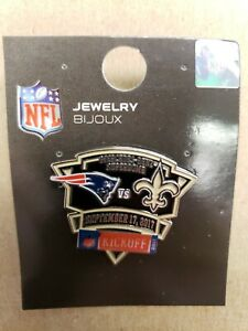 NEW ENGLAND PATRIOTS vs NEW ORLEANS SAINTS 9/17/17 Game Day Pin NFL KICKOFF