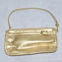 Vintage NEIMAN MARCUS Gold Evening Bag Wristlet Clutch Party Purse New Year Etc