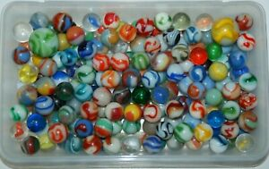 Lot of 180 Plus Vintage & Antique Glass Marbles & Shooters - Old Estate Find 3
