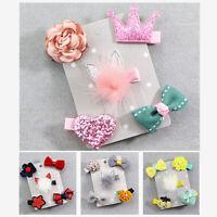 KE_ FT- 5Pcs Flower Star Bow Baby Girl Kids Barrette Hairpin Hair Clips Decora